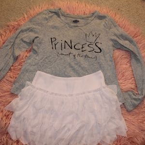 Aerie gray and pink PJ set